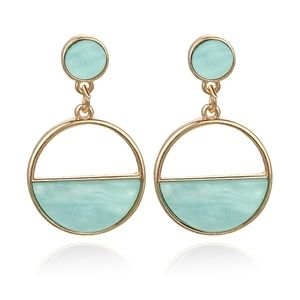 Jewelry - 5 for $25 Blue Turquoise Geometric Resin Earrings